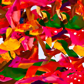 Papier by Mike O'Connor - Abstract Patterns ( abstract, pieces, colourful, red, paper, cut )