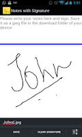Screenshot of Signature Capture App