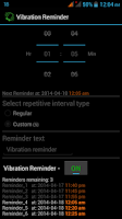Screenshot of Vibration Reminder