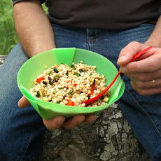 Campfire Couscous Salad with Bell Peppers and Mint Recipe