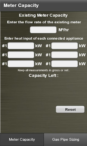 Gas Capacity Pipe Size Calcu