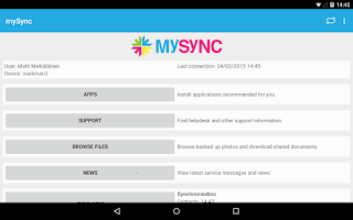 Screenshot of mySync
