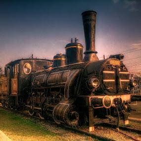 Locomotive by Branko Meic-Sidic - Transportation Trains ( locomototive, hdr, railway, train, land, device, transportation,  )