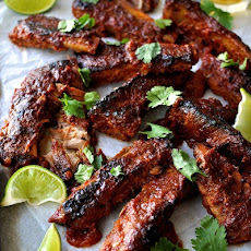 Fall Apart Pork Ribs with Chipotle BBQ Sauce (Baked)