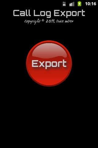 Call Log Export