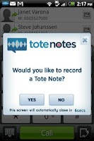Screenshot of Tote Notes