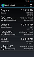 Screenshot of World Clock & Weather Widget
