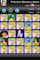 Screenshot of Princess Matching Game