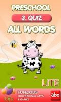 Screenshot of Preschool All Words 3 Lite