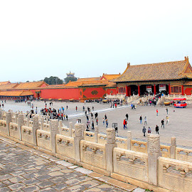 Forbidden City by Leong Jeam Wong - Buildings & Architecture Statues & Monuments ( tower, imperial, emperor, carving, court, intrinsic, design, wall, gate )