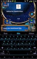 Screenshot of Steampunk GOSMS Pro PopUp Blue