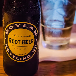 Boylan Bottling Co. Root Beer by Eric Galey - Food & Drink Alcohol & Drinks ( wood, glass, boylan, bottle, root beer )
