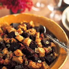 Boston Brown Bread Stuffing with Bacon and Tarragon