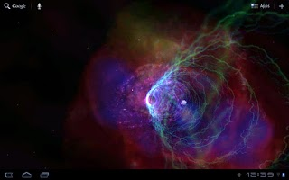 Screenshot of Galactic Wormhole 3D Wallpaper
