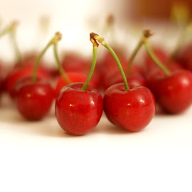Cheries by Iva Aviana - Food & Drink Fruits & Vegetables ( cherry, fruit, juicy, vitamins, red, cheries, fresh, healthy, vegetarian )
