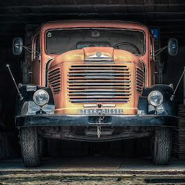 This old truck by Paul Zeinert - Transportation Automobiles ( diesel, old, hdr, truck, kufstein, steyr, austria )