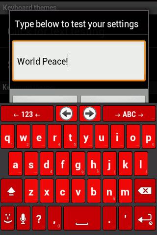 Any Red Anysoft keyboard theme