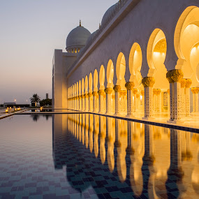 Reflection by Andy Arciga (www.arcigaandy.com) - Buildings & Architecture Places of Worship ( abu dhabi grand mosque, canon 6d, canon 24-70 f2.8l, united arab emirates )