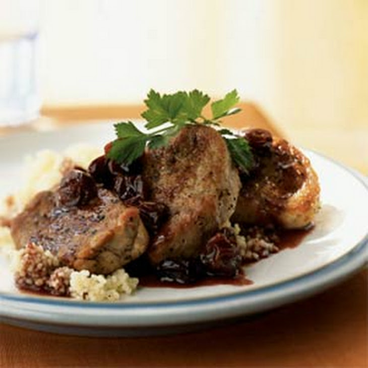 Pork Medallions With Port Wine-Dried Cherry Pan Sauce ...