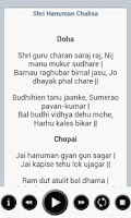 Screenshot of Hanuman Chalisa with lyrics HD