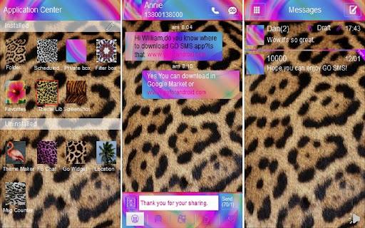 Go sms theme Cheetah Swirl 2