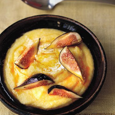 Breakfast Polenta with Figs and Mascarpone