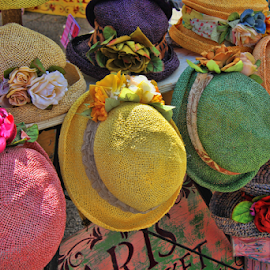 Hats by Janet Aguila Krause - Artistic Objects Clothing & Accessories ( hats, farmers market, clothing, display )