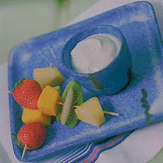 Caribbean Fruits With Key Lime Dip