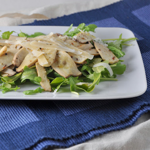 Roasted King Trumpet Mushroom Salad