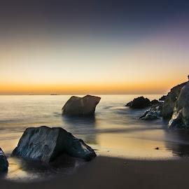 Fujairah Beach by Salman Karim - Landscapes Beaches ( fujairah, uae, sunrise, beach )
