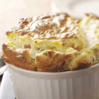 Ham and Corn Souffle