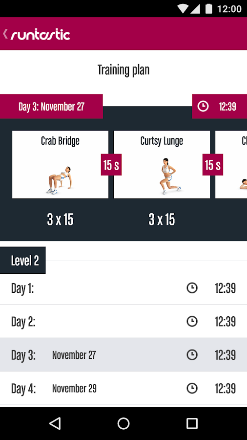Runtastic Butt Trainer Workout Screenshot 3