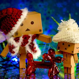 Danbo Walking Balloon Dog by Lin Fauke - Artistic Objects Toys ( danbo, toy, danboard, toys, christmas, holidays, balloon, dog,  )