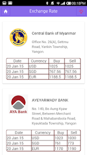 Myanmar Financial Information - screenshot