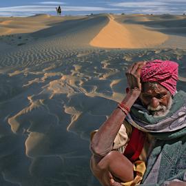 Despairing look by Kaushik Dolui - People Portraits of Men