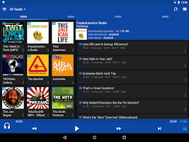 Screenshot of DoggCatcher Podcast Player