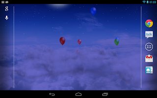 Screenshot of Blue Skies Live Wallpaper