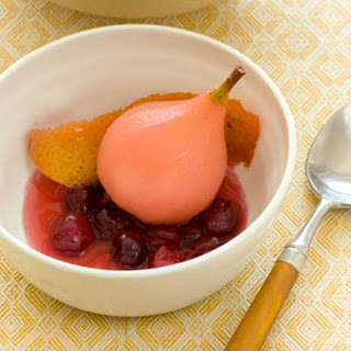 Cranberry-Poached Pears