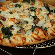 Mixed Mushroom and Goat Cheese Pizza by Sam Zien