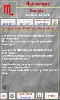 Screenshot of Scorpio Horoscope