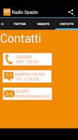 Screenshot of Radio Spazio