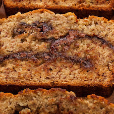Roasted Banana–Nutella Quick Bread