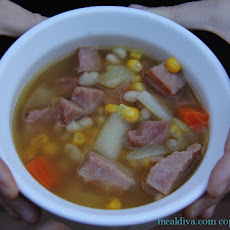 White Bean & Leftover Ham Soup