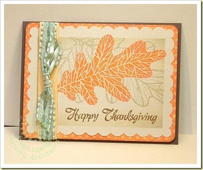 Happy Thanksgiving Leaf