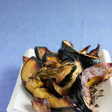 Roasted Acorn Squash, Shallots, and Rosemary