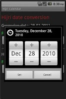 Screenshot of Hijri Calendar Lite