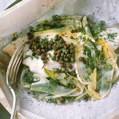 Fillet of Sole with Capers and Green Peppercorns