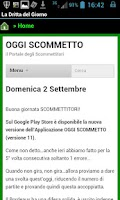 Screenshot of Oggi Scommetto
