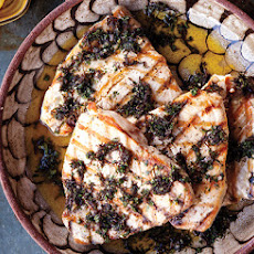 Swordfish with Seaweed Salsa Verde