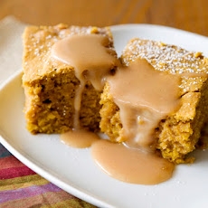 Pumpkin Salted Caramel Blondies